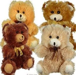 """96 Units of 10.5"""" Plush Natural Colored Bears - Plush Toys"""