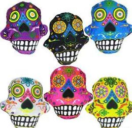 """288 Units of 5.5"""" Mini Plush Day Of The Dead Skulls - Plush Toys"""