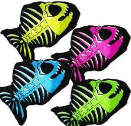 """288 Units of 6.5"""" Mini Plush Bone Fish - Plush Toys"""