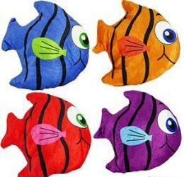 "288 Units of 6.5"" Mini Plush Coloruful Angel Fish - Plush Toys"