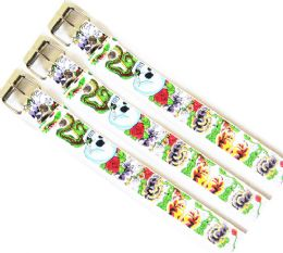 48 Units of Snakes And Skulls Printed Belt - Kid Belts