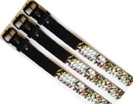 48 Units of Pyramid Studded Skull & Flower Belt - Kid Belts