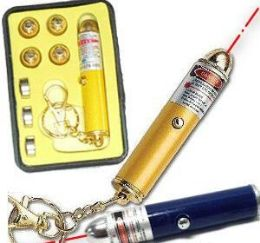 192 Units of 5-in -1 Laser Light Pointers Key Ring Sets - Key Chains