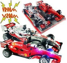 12 Units of 2 Piece Friction Powered Formula One Race Cars w/Sound Sets - Cars, Planes, Trains & Bikes