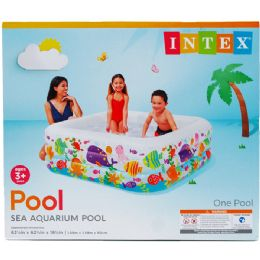 """3 Units of 62.5"""" X 62.5"""" SWIM CENTER POOL CLEARVIEW IN COLOR BOX - SUMMER TOYS"""
