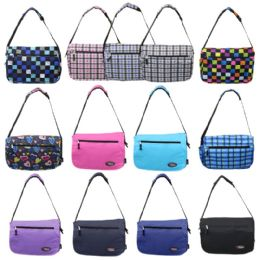 "24 Units of 16"" Track Messenger Bag In A Random 6 Colors And 7 Prints Assortment - Shoulder Bags & Messenger Bags"