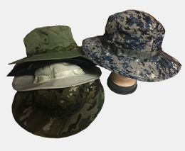 60 Units of Camo Mesh Boonie Hat Summer Sun Caps - Cowboy & Boonie Hat