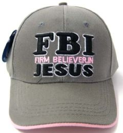 24 Units of Fbi Firm Believer In Jesus 1 - Baseball Caps & Snap Backs