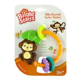 20 Units of Bright Starts Silly Sounds Safari Rattle Baby Toy, 3m+ - Baby Toys
