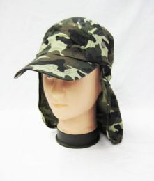 24 Units of Mens Boonie / Hiking Cap Hat In Camo Green - Cowboy & Boonie Hat