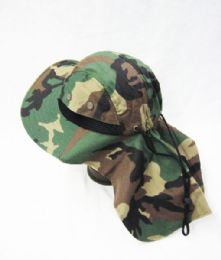 24 Units of Mens Boonie / Hiking Cap Hat Camo Color - Bucket Hats