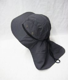 24 Units of Men's Cowboy Sun Hat In Gray - Cowboy & Boonie Hat