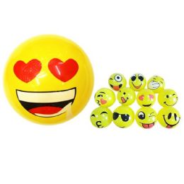 """96 Units of 12"""" Inflatable Ball [Expression Faces] - Balls"""