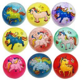 "96 Units of 12"" Inflatable Ball [Unicorns] - Balls"