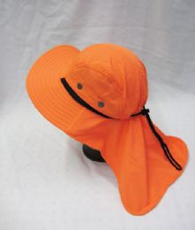 36 Units of Mens Boonie Hiker /fisher Hat In Orange - Cowboy & Boonie Hat