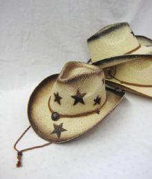 12 Units of Western Cowboy Star Print Hat - Cowboy & Boonie Hat