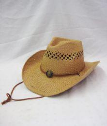 24 Units of Western Cowboy Hat In Khaki - Cowboy & Boonie Hat