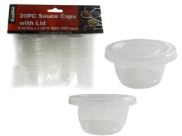 72 Units of 20 Piece Sauce Cup Containers With Lids - Food Storage Containers