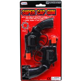 "96 Units of 2PC 6"" SUPER CAP TOY GUN SET(REVOLVERS) IN BLISTER CARD - Toy Weapons"