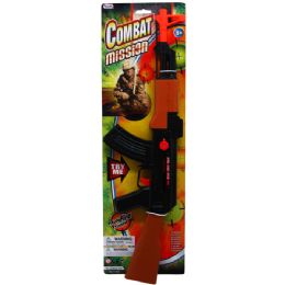 24 Units of COMBAT MISSION TOY RIFLE TIED ON CARD - Toy Weapons