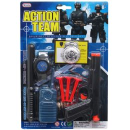 72 Units of 9PC ACTION TEAM TOY GUN PLAY SET IN BLISTER CARD - Toy Weapons