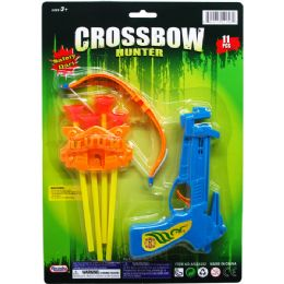 96 Units of Crossbow Play Set With Soft Darts On Card - Toy Sets