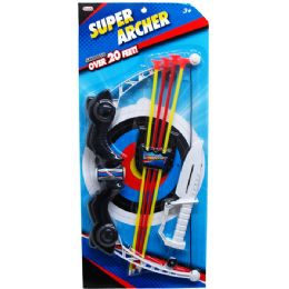 36 Units of Bow And Soft Arrows Play Set In Blister Card - Toy Sets