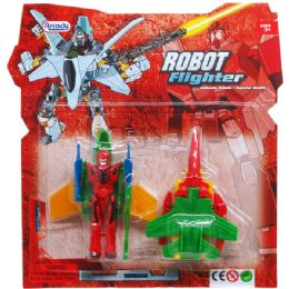 96 Units of ROBOTS ON BLISTER CARD TWO ASSORTED STYLES - Action Figures & Robots