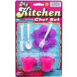 144 Units of MY KITCHEN CHEF SET ON BLISTER CARD - Girls Toys