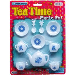 96 Units of Little Tea Set On Blister Card - Girls Toys