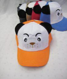 36 Units of Kid's Panda With Ears Base Ball Cap - Kids Baseball Caps
