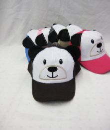 36 Units of Kid's Panda With Ears Baseball Cap - Kids Baseball Caps