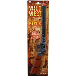 48 Units of CLICKING WILD WEST TOY GUN ON BLISTER CARD - Toy Weapons