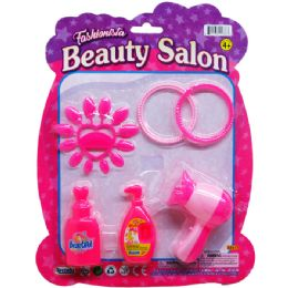 96 Units of Beauty Salon Play Set On Blister Card - Girls Toys