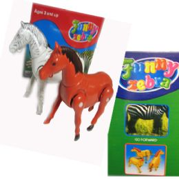 12 Units of The Funny Run Horse & Zebra - Animals & Reptiles