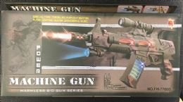 12 Units of Light Up Toy Military Machine Gun - Toy Weapons