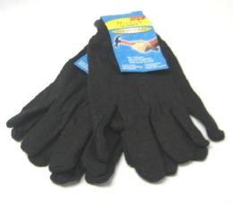 144 Units of Jersey Gloves - Knitted Stretch Gloves