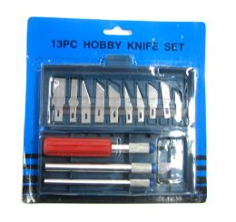 96 Units of 13 Piece Hobby Knife Set - Box Cutters and Blades