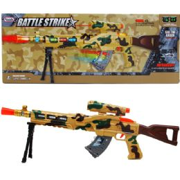 12 Units of TOY GUN WITH LIGHT AND SOUND IN WINDOW BOX - Toy Weapons