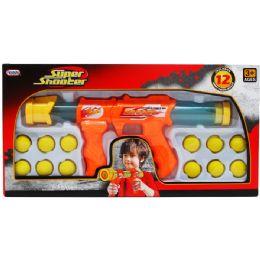 """12 Units of 14"""" TOY FOAM GUN W/ 12PC FOAM BALL SET IN WINDOW BOX - Toy Weapons"""