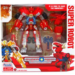 """12 Units of 9"""" Robot W/ Light & Accss In Window Box, 2 Assrt Clrs - Action Figures & Robots"""