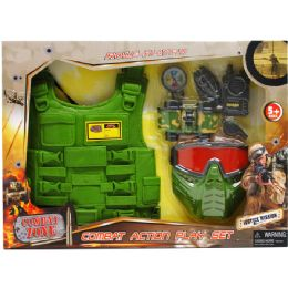 12 Units of Military Play Set With Toy Vest In Open Box With Cover - Action Figures & Robots