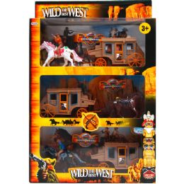 12 Units of 9pc Wild The Best West Play Set In Pegable Window Box - Toy Sets