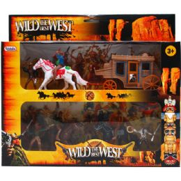 12 Units of 9pc Wild The Best West Play Setin Pegable Window Box - Toy Sets