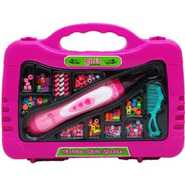 """18 Units of 11"""" Fashion Hair Beader W/ Accss In 14"""" Display Case - Toy Sets"""
