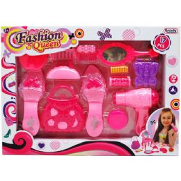 12 Units of 17pc Fashion Queen Beauty Set In Window Box, 2 Assrt Clrs - Toy Sets