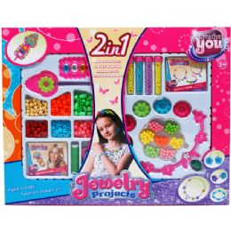 18 Units of 2in1 Diy Fashion Beads Set In Window Box, 2 Assrt - Toy Sets