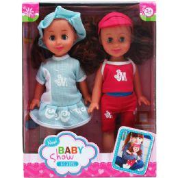 "12 Units of 2pc 10"" Dolls Play Set In Window Box - Dolls"