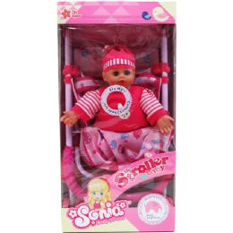9 Units of Soft Doll With Metal Stroller - Dolls