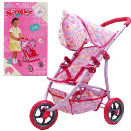 6 Units of Steel Frame Toy Doll Stroller In Color Box - Dolls